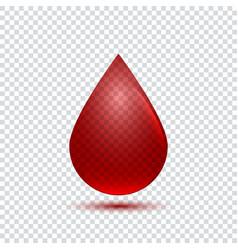 realistic blood drop icon vector image