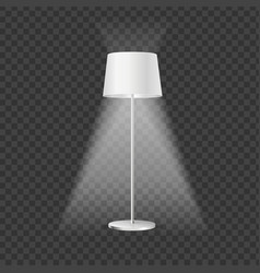 realistic detailed 3d illuminated floor lamp vector image