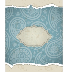 Retro paisley frame vector image