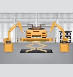 robot car vector image