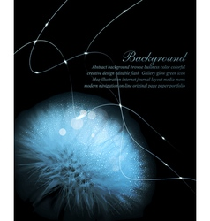 Romantic background with white dandelion vector image