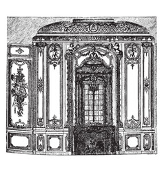 Saloon in the palace of versailles a royal chteau vector