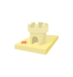 Sandcastle icon cartoon style vector image