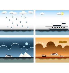 Sea themes vector image