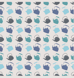 seamless colorful pattern with kettle vector image