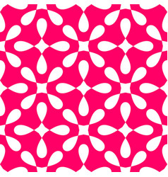 seamless white and pink pattern with decorative vector image