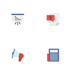 set of financial icons flat style symbols with vector image