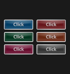 set of glass buttons vector image