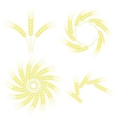 Set of Wheats Frames vector