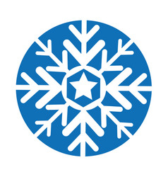 Snowflake silhouette isolated icon vector
