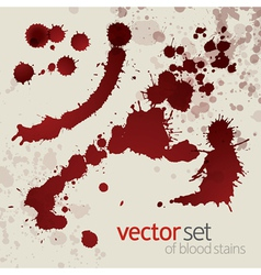 Splattered blood stains set 4 vector image