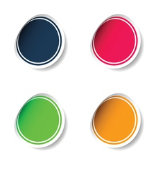sticker set color vector image vector image