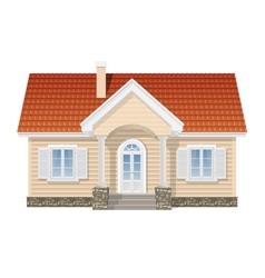 Suburban house realistic vector