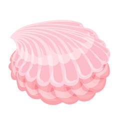 Sweet candy shell icon cartoon style vector