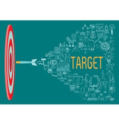 Target with doodles vector