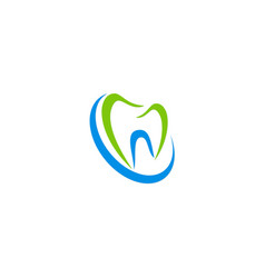 Teeth icon tooth logo vector