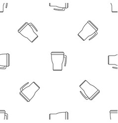 Thermo cup pattern seamless vector