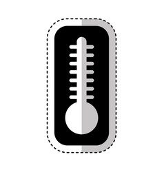 thermometer temperature isolated icon vector image