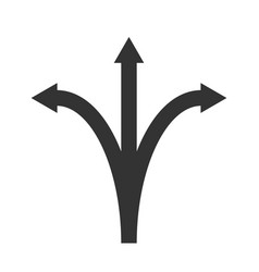 Three arrows pointing vector