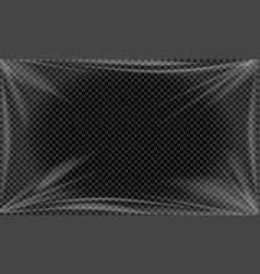 transparent plastic backdrop vector image