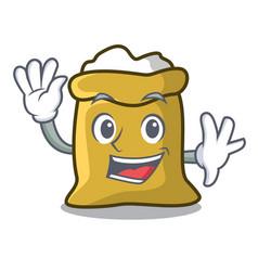 Waving flour character cartoon style vector