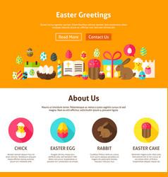 web design easter greeting vector image