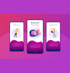 wireless connectivity app interface template vector image