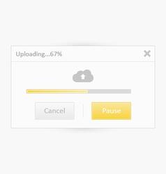 Cloud Uploading UI vector image