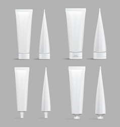 cosmetic tube set mock up cosmetic cream vector image vector image