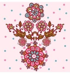 Flower design isolated elements vector image