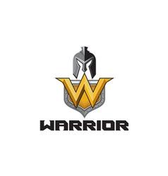 Spartan Warrior Helmet Shield W Retro vector image