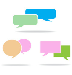 Speech box vector image