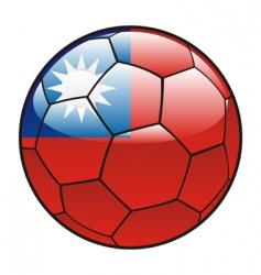 taiwan flag on soccer ball vector image vector image