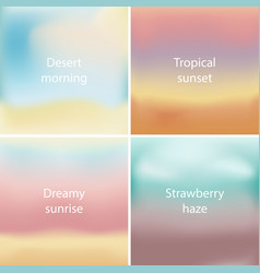 abstract colorful blurred backgrounds set vector image vector image