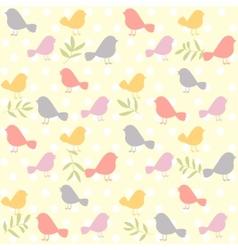 birds pattern retro vector image vector image