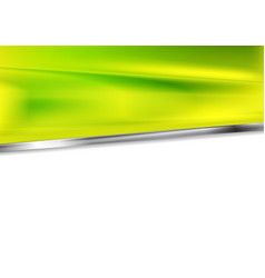 bright green background with silver metal stripe vector image vector image
