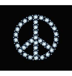 Diamond Peace Symbol vector image