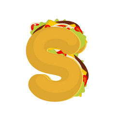 letter s tacos mexican fast food font taco vector image