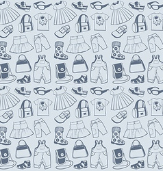 Seamless pattern clothes vector image