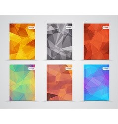 set of polygonal covers vector image vector image