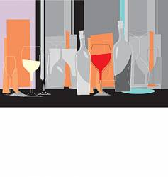 wine illustration vector image vector image