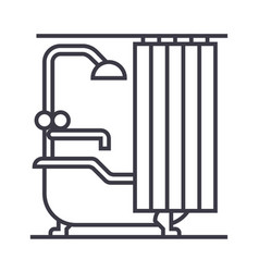 bathroom line icon sign on vector image