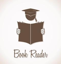 Book Reader Sign vector image