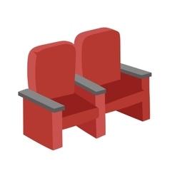 Cinema chairs vector image