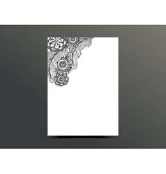 Hand drawn steampunk technology element with gear vector image