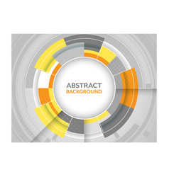 Abstract futuristic background with circular vector image