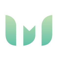 Letter m eco leaves logo icon design vector