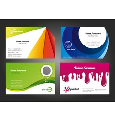 Modern colorful business card designs vector