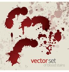Splattered blood stains set 2 vector image vector image