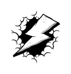 wrath thunder bolt with cloud theme sign vector image vector image